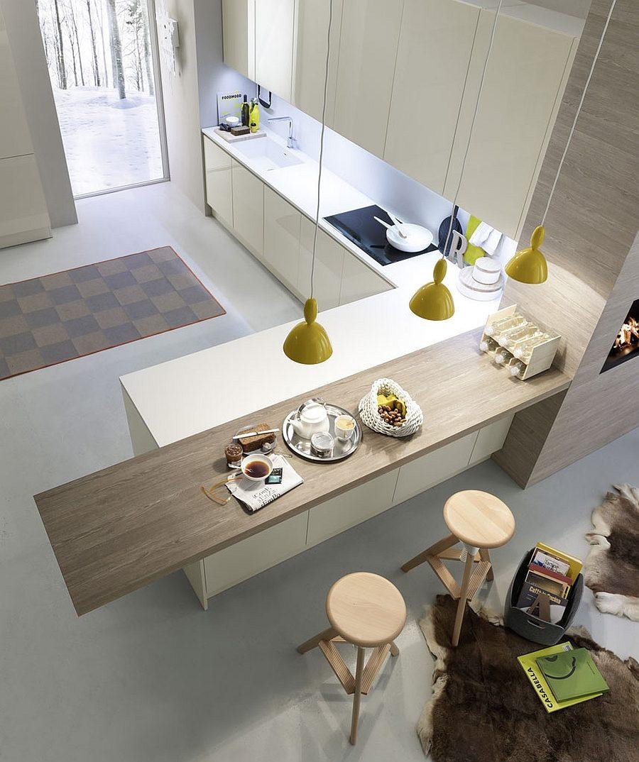 Дизайн кухни с полуостровом - необычный вариант. Фото 4