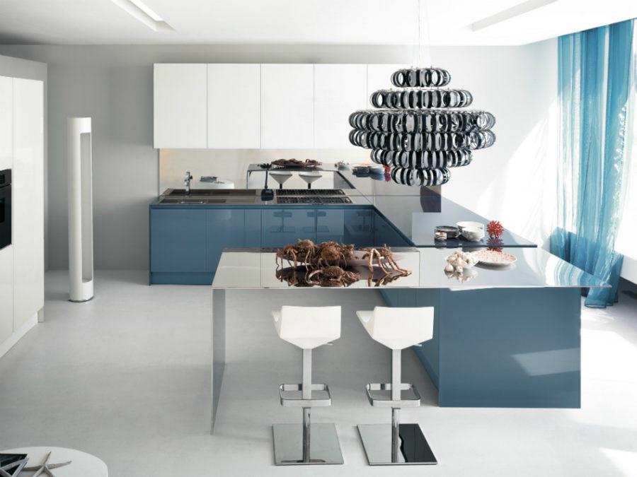 Дизайн кухни с полуостровом - потрясающий вариант. Фото 2