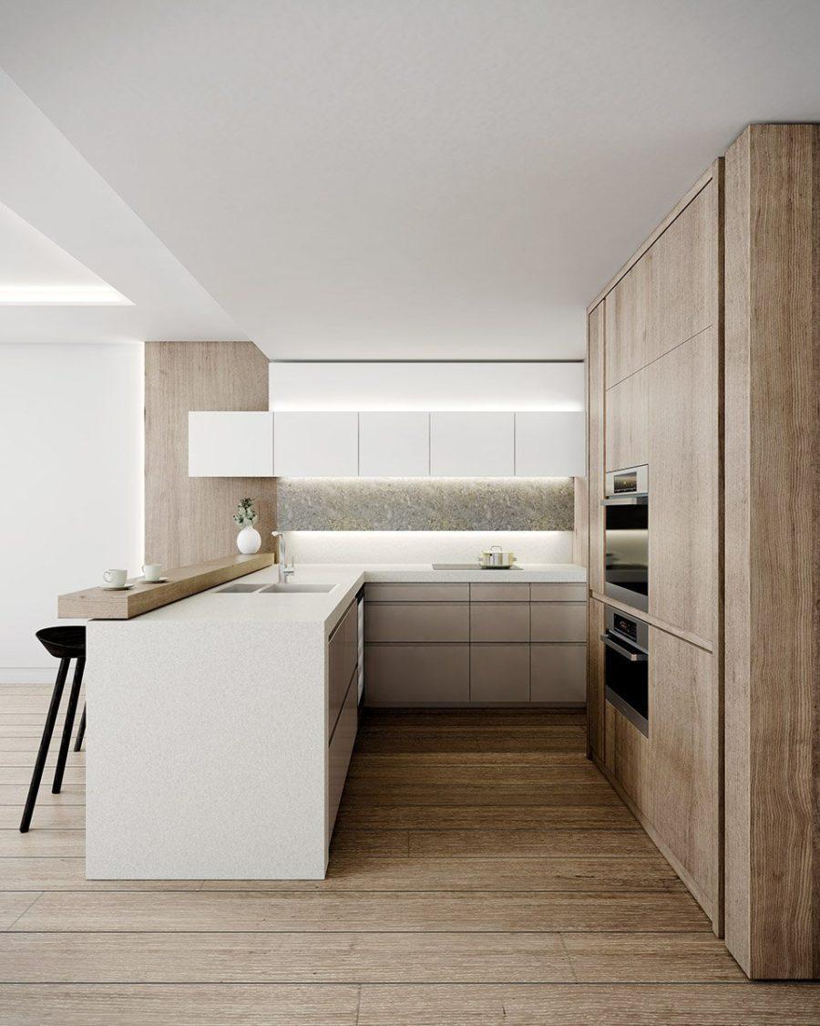 Дизайн кухни с полуостровом - интересный вариант. Фото 1