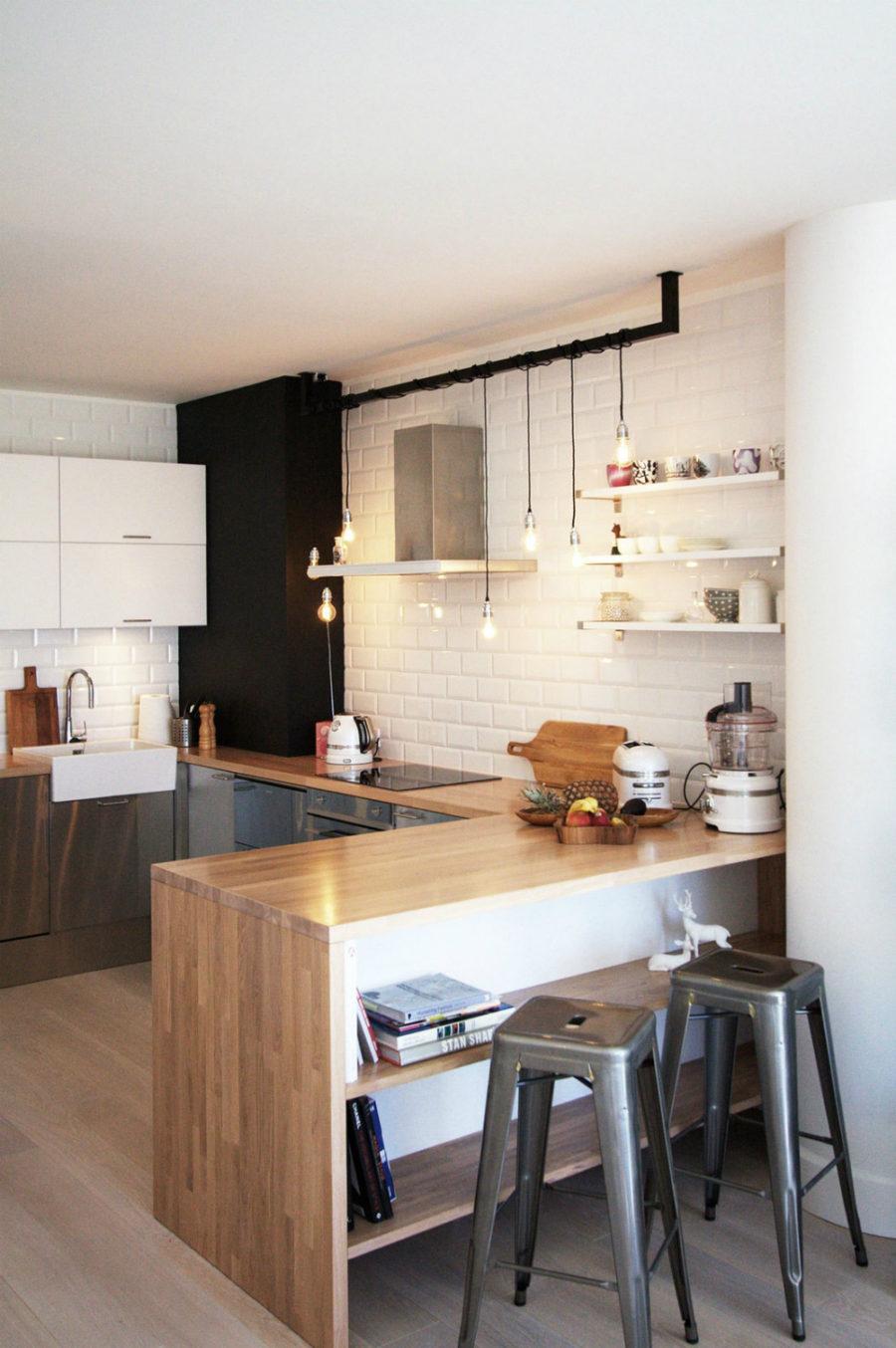Дизайн кухни с полуостровом - интересный вариант. Фото 2