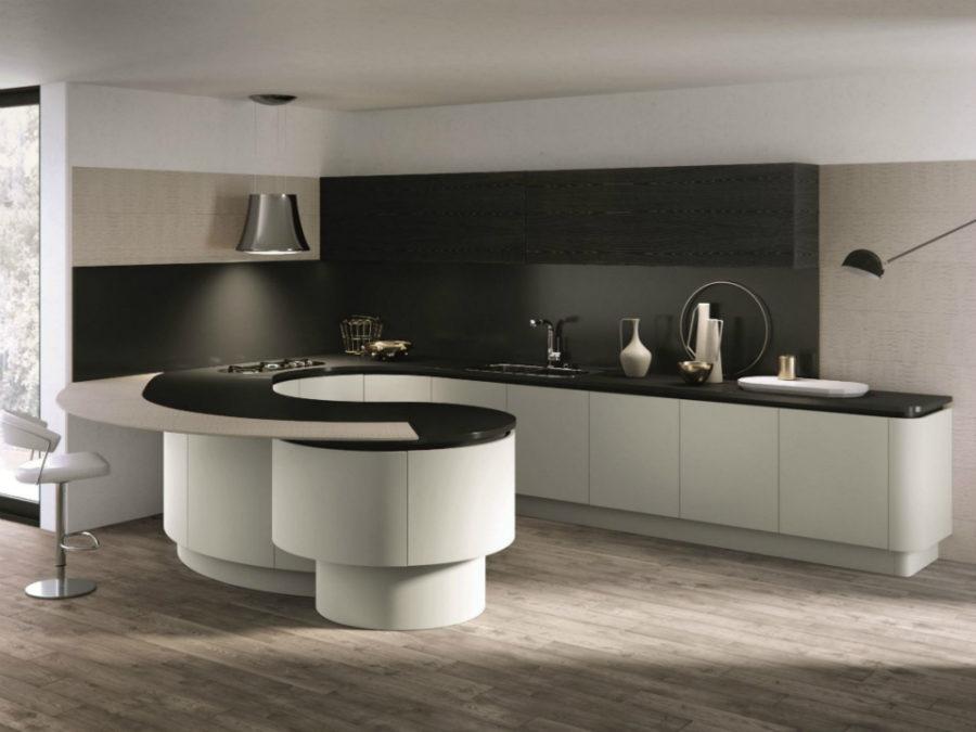 Дизайн кухни с полуостровом - интересный вариант. Фото 6