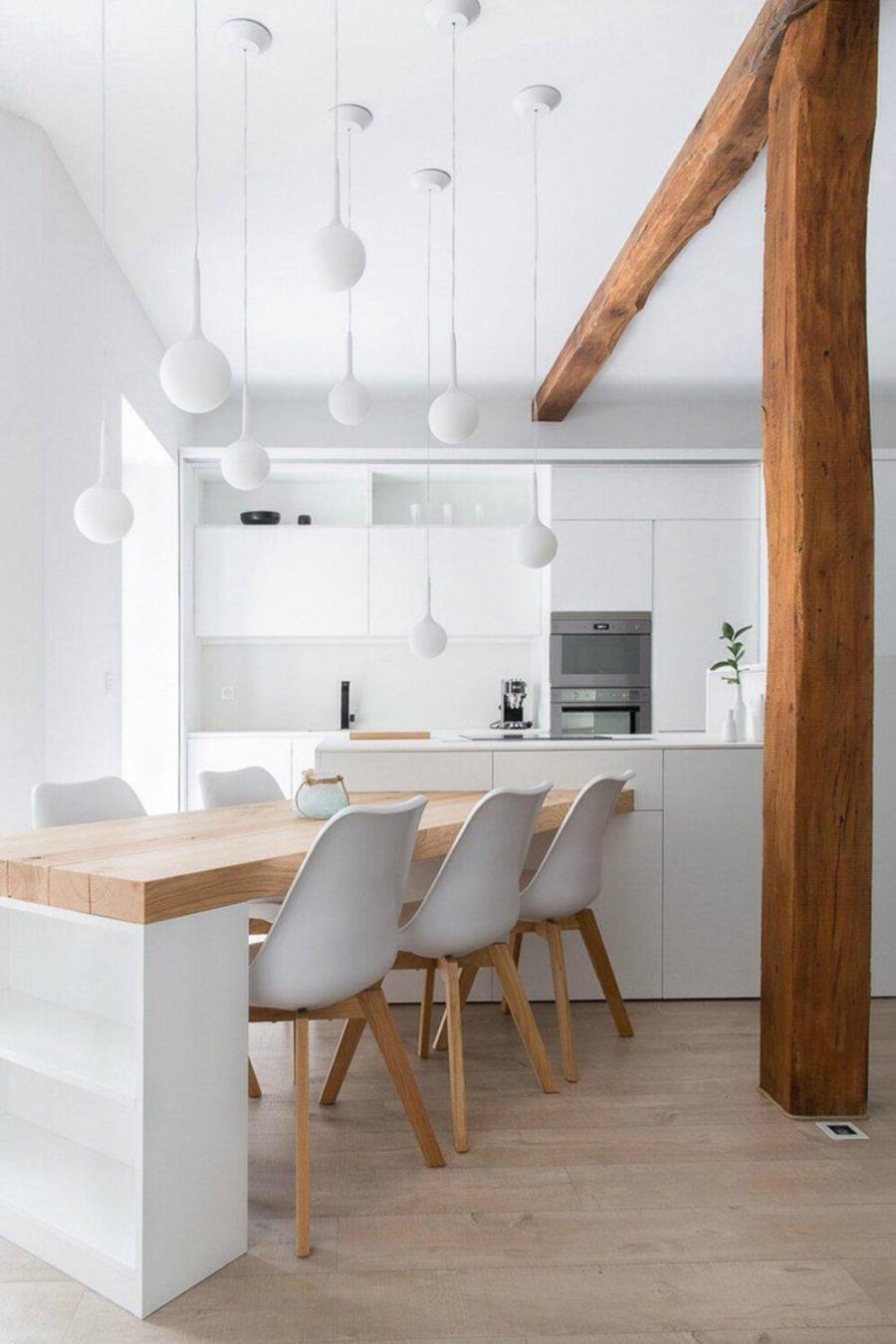 Дизайн кухни с полуостровом - интересный вариант. Фото 7
