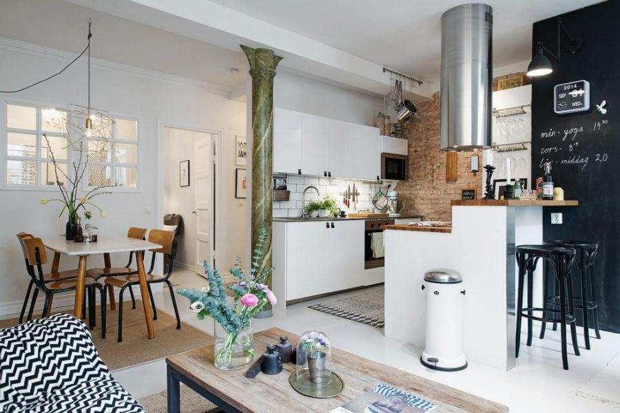 Дизайн кухни с полуостровом. Фото 22