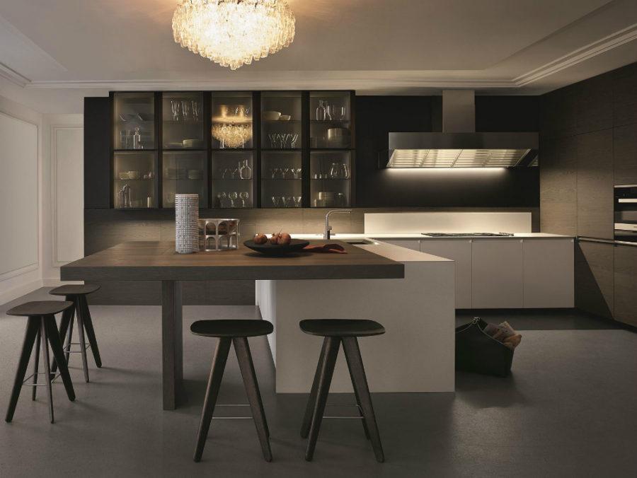 Дизайн кухни с полуостровом. Фото 23