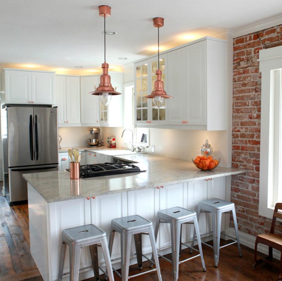 Дизайн кухни с полуостровом. Фото 24