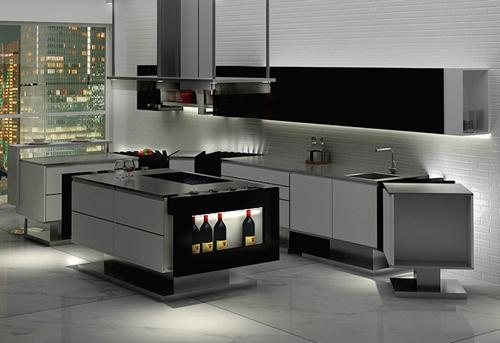 Дизайн современной кухни в стиле минимализм