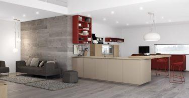 Дизайн кухни с гостиной в стиле минимализма