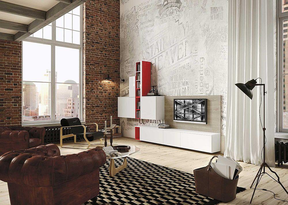 Чёрно-белый коврик в дизайне кухни в светлых тонах