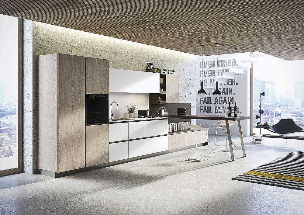 Современный дизайн кухни в светлых тонах