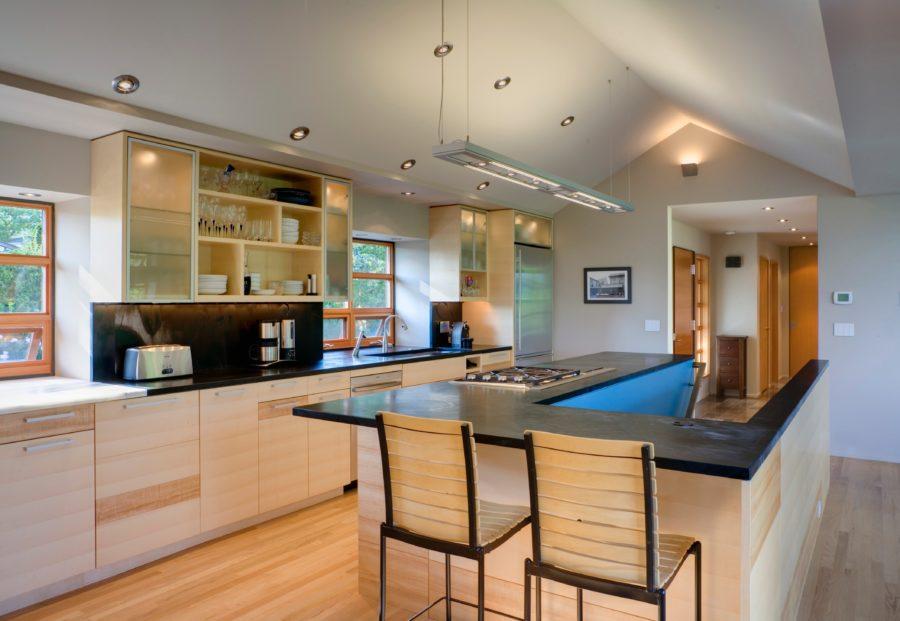 Дизайн кухонного острова в вашем доме - минимализм в азиатском стиле