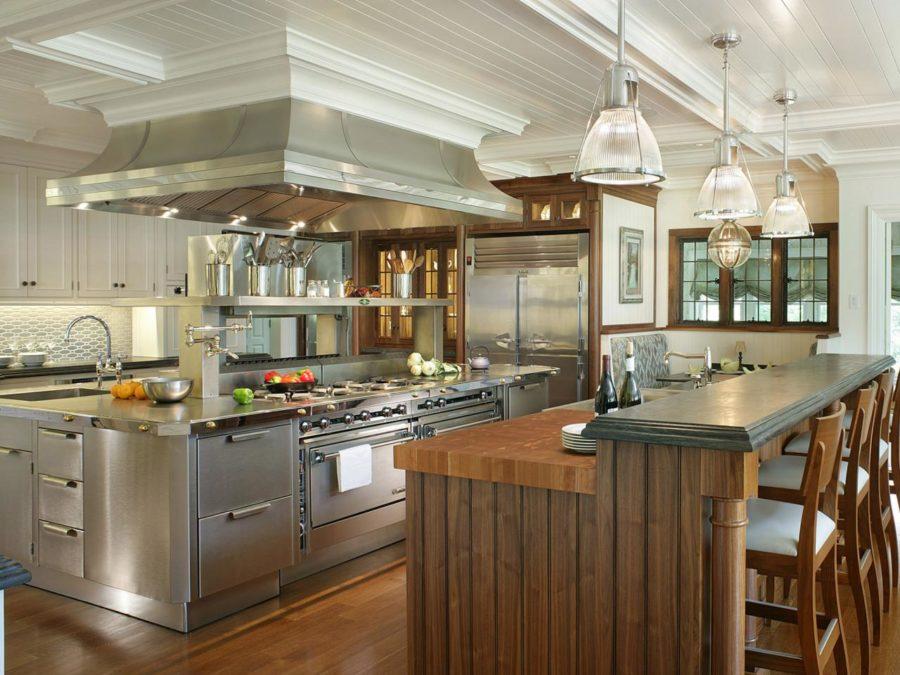 Дизайн кухонного острова в вашем доме - профессиональная кухня