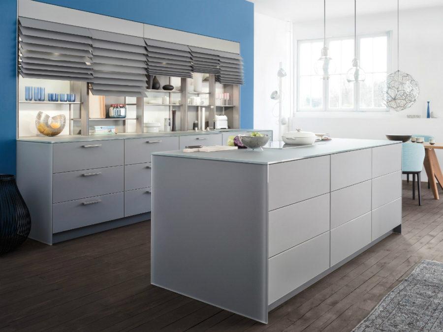 Дизайн кухонных шкафов - вариант с кухонным островом