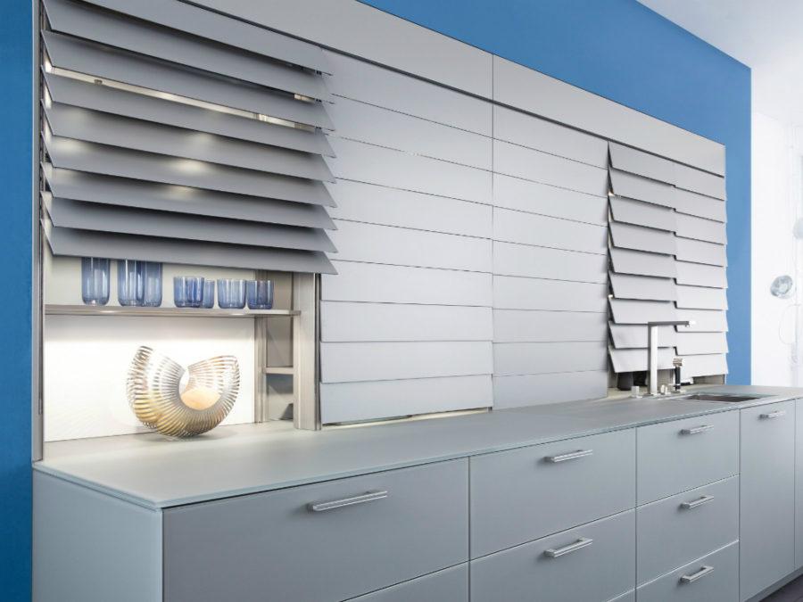 Дизайн кухонных шкафов - полки закрыты