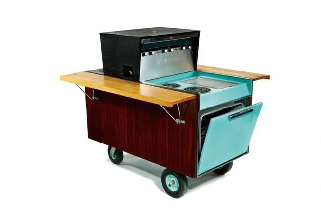 Дизайн летней кухни - портативная плита с духовкой