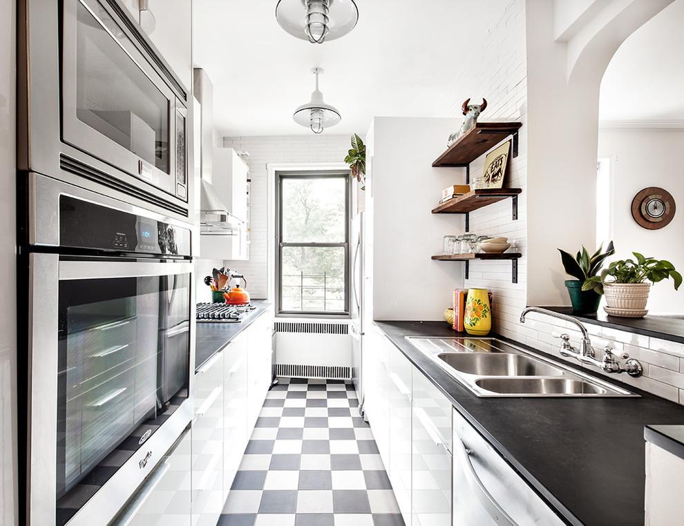 Стильный дизайн рабочей зоны кухни