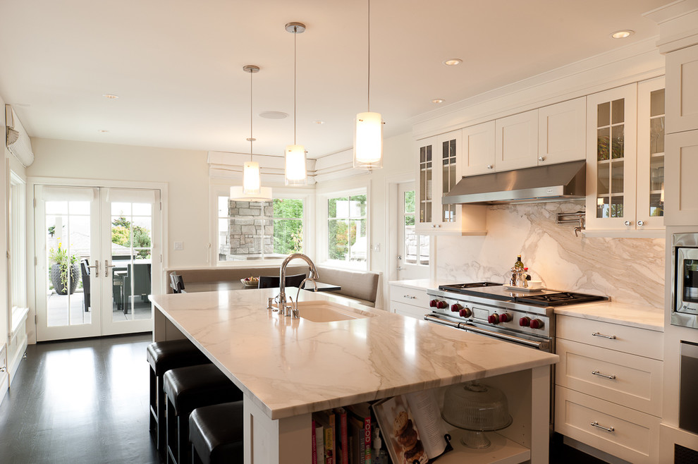 Стильный дизайн рабочей зоны кухни - удобное расположение раковины