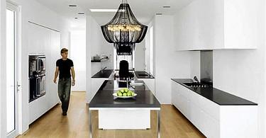 Оригинальный светодизайн в интерьере кухни
