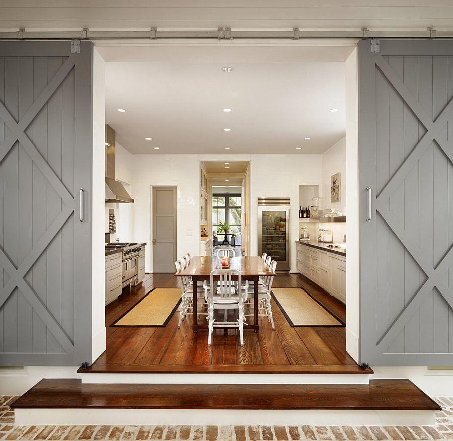 Деревянные раздвижные двери для кладовки на кухне - Фото 7
