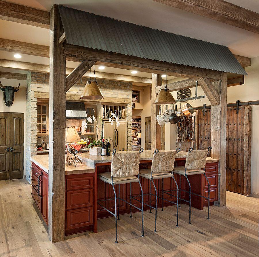 Деревянные раздвижные двери для кладовки на кухне - Фото 12