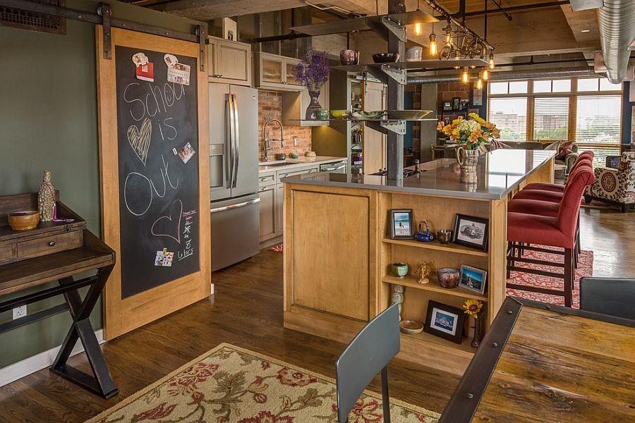 Раздвижные двери с меловой доской для кладовки на кухне - Фото 1