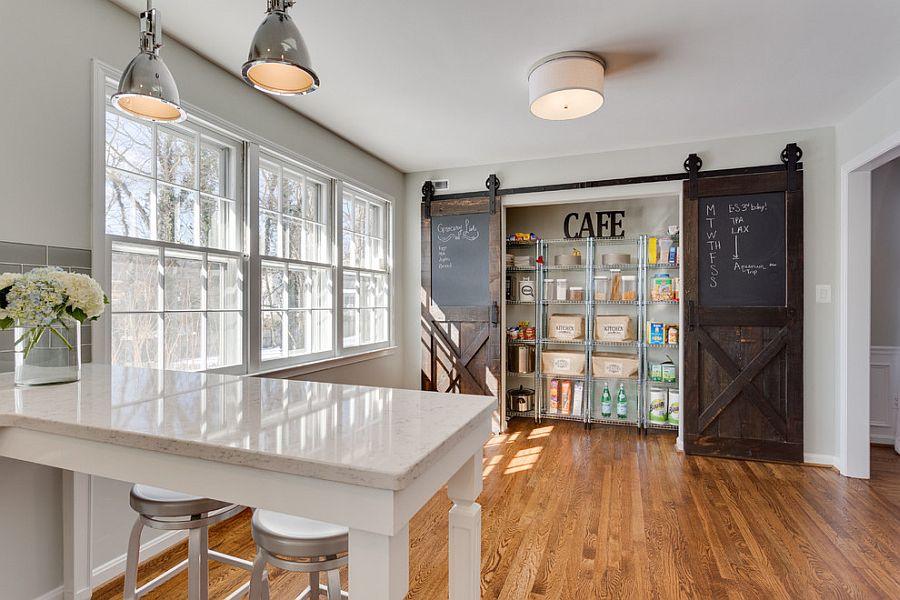 Раздвижные двери с меловой доской для кладовки на кухне - Фото 2