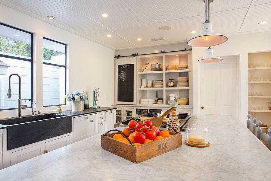 Раздвижные двери с меловой доской для кладовки на кухне - Фото 3