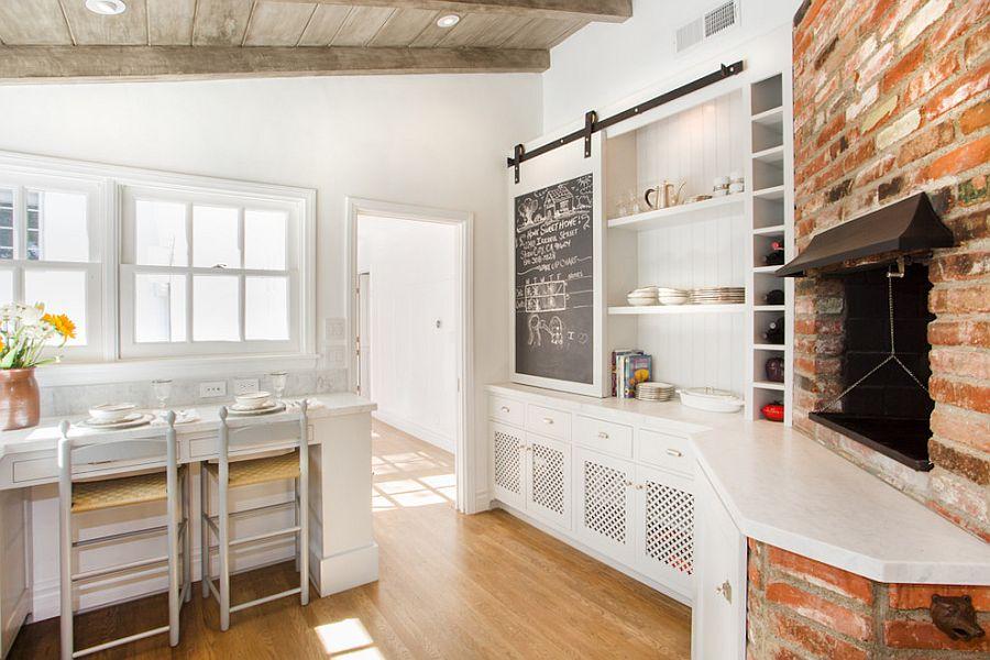 Раздвижные двери с меловой доской для кладовки на кухне - Фото 4