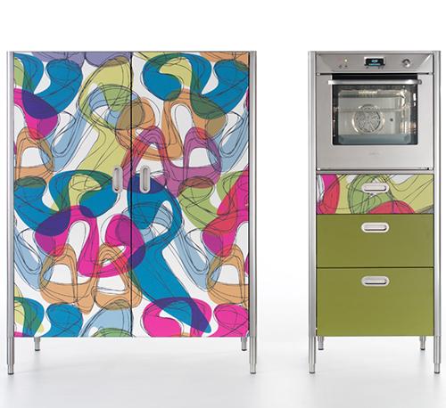 Дверки для кухонных шкафов с ярким рисунком