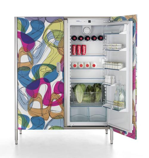 Дверки для кухонных шкафов: дизайн холодильника
