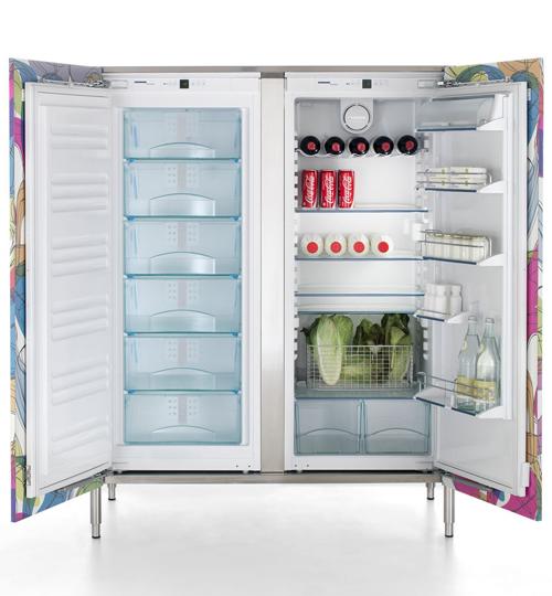 Дверки для кухонных шкафов: холодильник с большой морозильной камерой