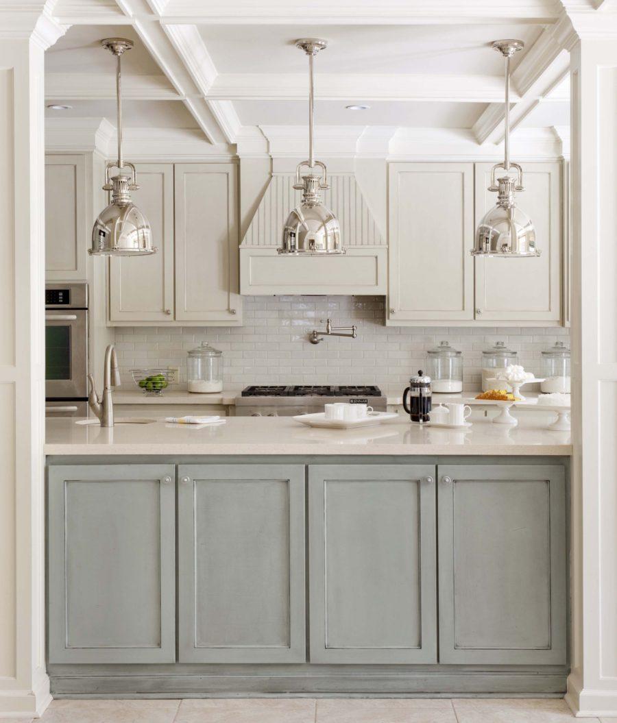 Двухцветные кухонные гарнитуры - Фото 7