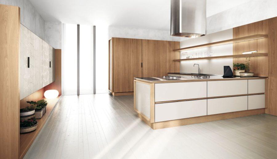 Двухцветные кухонные гарнитуры - Фото 11