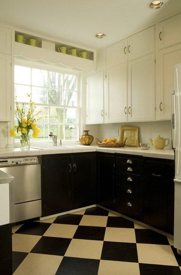 Двухцветные кухонные гарнитуры - Фото 17