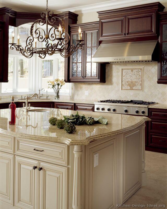 Двухцветные кухонные гарнитуры - Фото 19