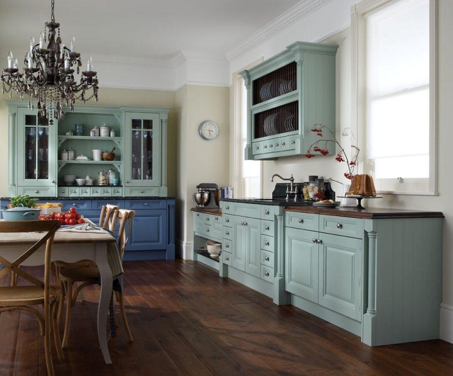 Двухцветные кухонные гарнитуры - Фото 31