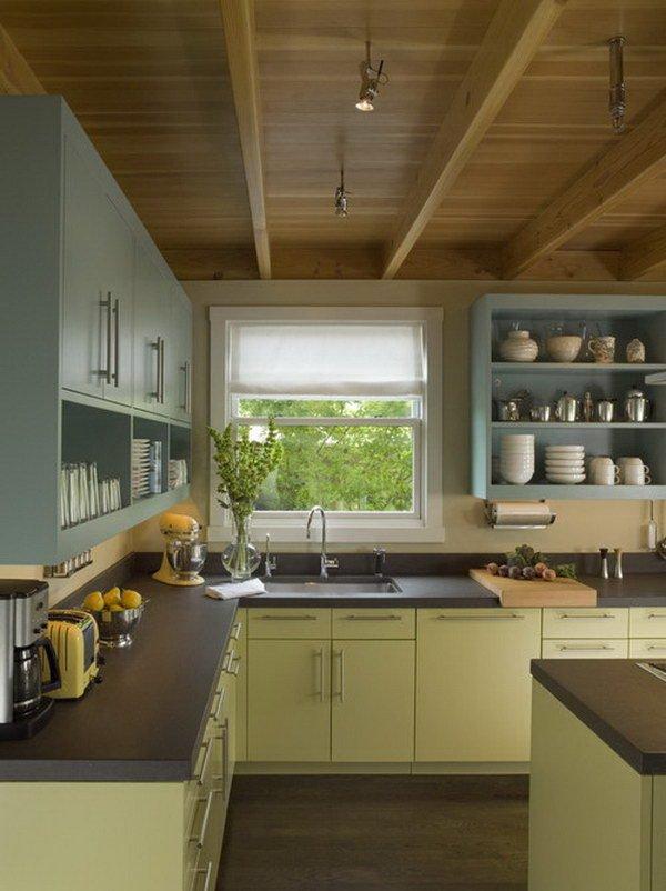 Двухцветные кухонные гарнитуры - Фото 33