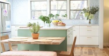 Эклектичный дизайн интерьера кухни-столовой