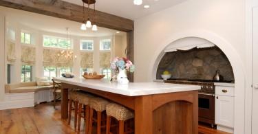 Великолепное эклектичное оформление кухни от студии AMI Designs