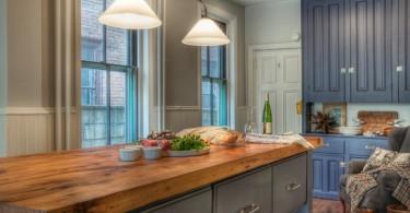 Кухонная столешница из массива натурального дерева