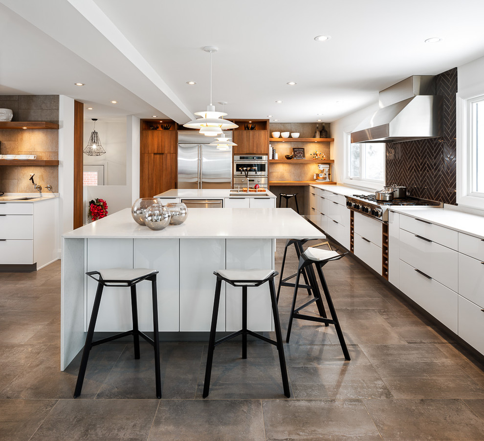 Дизайн интерьера кухни столовой в стиле модерн от Astro Design Centre