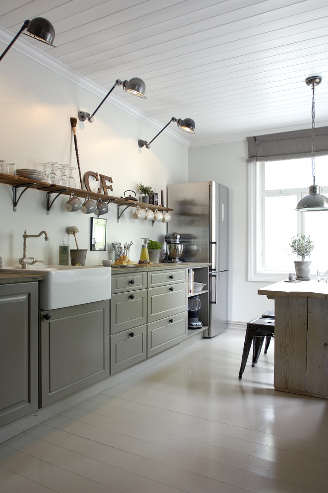 Элегантный интерьер кухни в скандинавском стиле