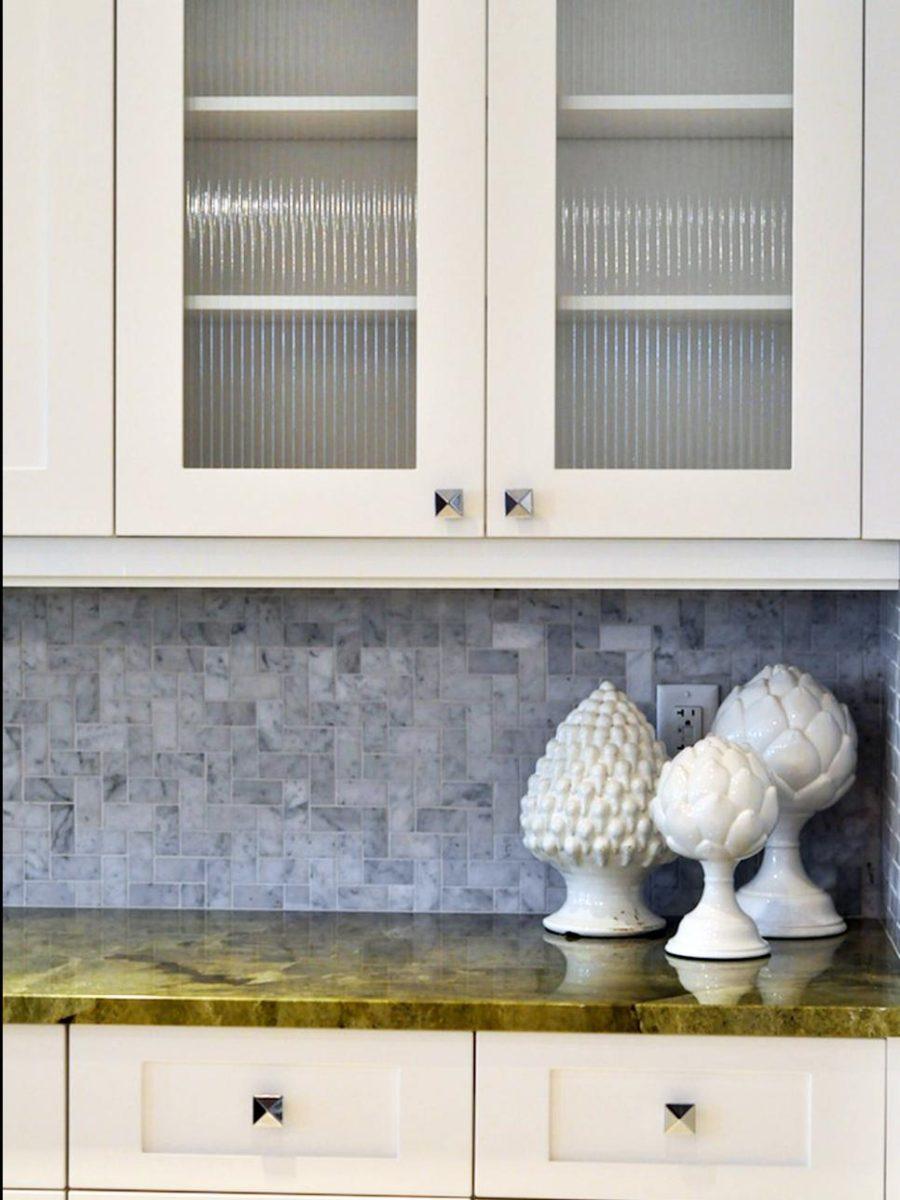 Элегантный дизайн кухонной столешницы для острова - зелёный дизайн