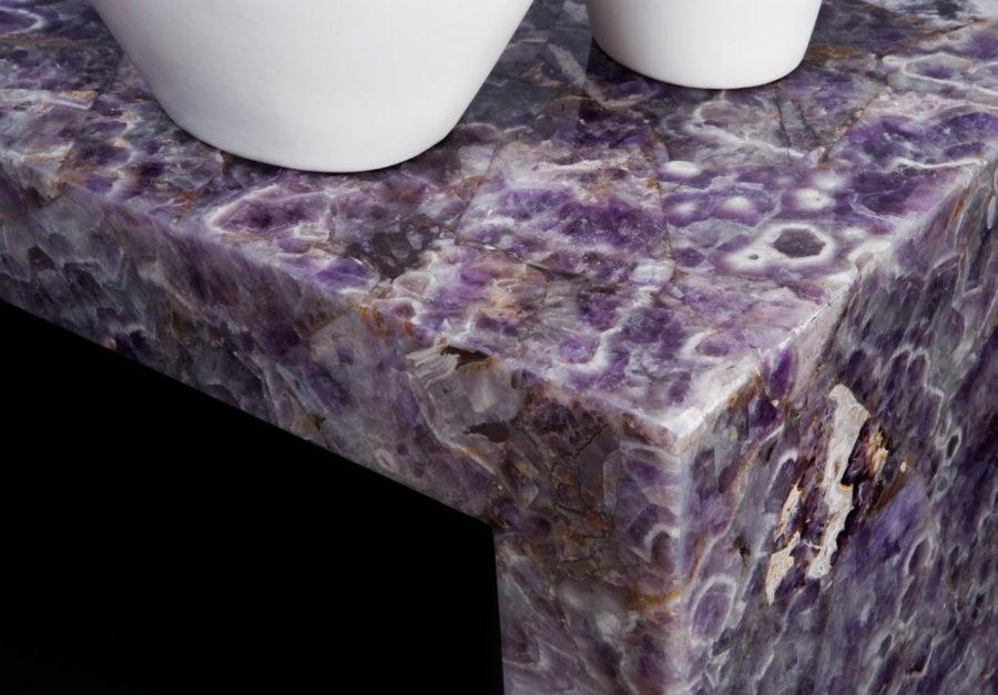 Элегантный дизайн кухонной столешницы для острова - столешница из аметиста