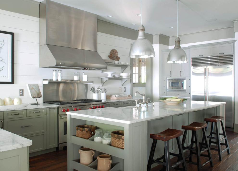 Дизайн интерьера кухни с элементами фермер-стиля