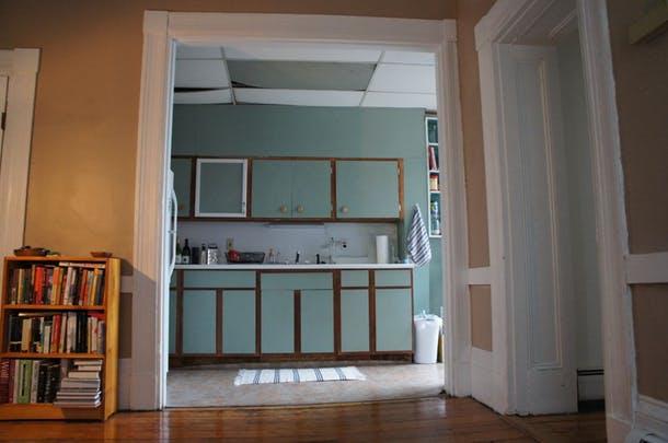 """По словам Дэна это был """"зелёный бостонский монстр"""", вид из столовой"""