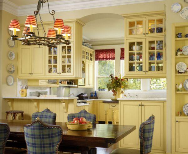 Дизайн интерьера кухни в стиле французского Прованса