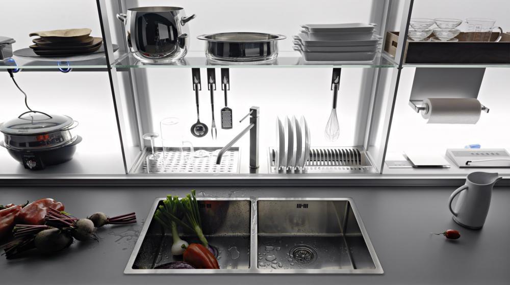 Функциональная мебель для кухни в сером цвете - Фото 2