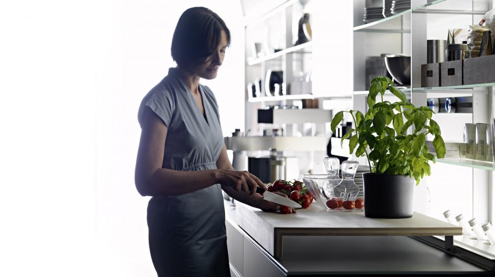 Функциональная мебель для кухни в сером цвете - Фото 3