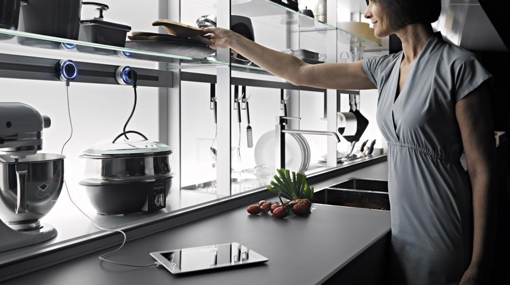 Функциональная мебель для кухни в сером цвете - Фото 4