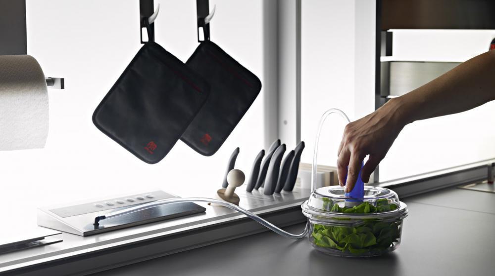 Функциональная мебель для кухни в сером цвете - Фото 7